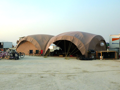 Quonset Dome outside